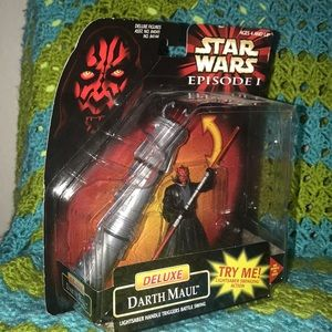 Star Wars episode 1 Darth Maul with light saber